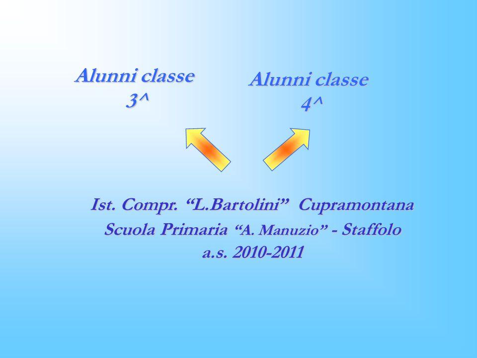 Alunni classe 3^ Alunni classe 4^