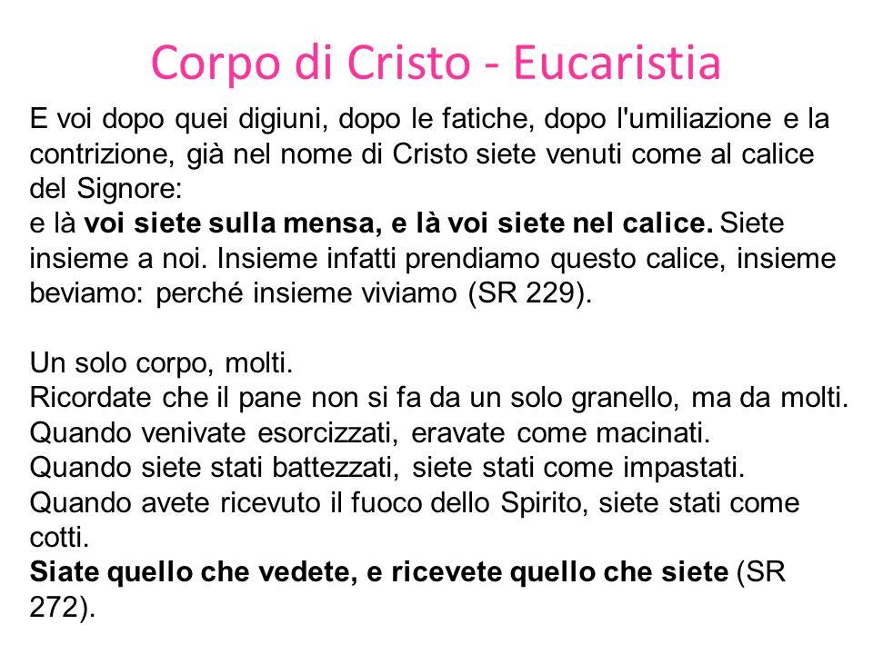 Corpo di Cristo - Eucaristia