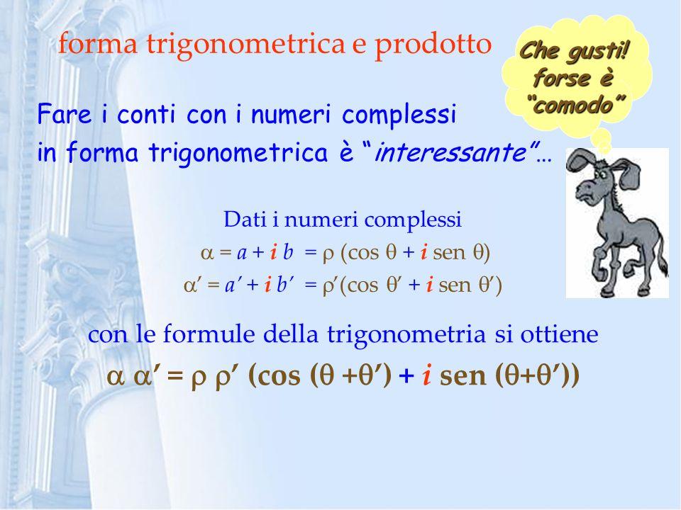 forma trigonometrica e prodotto