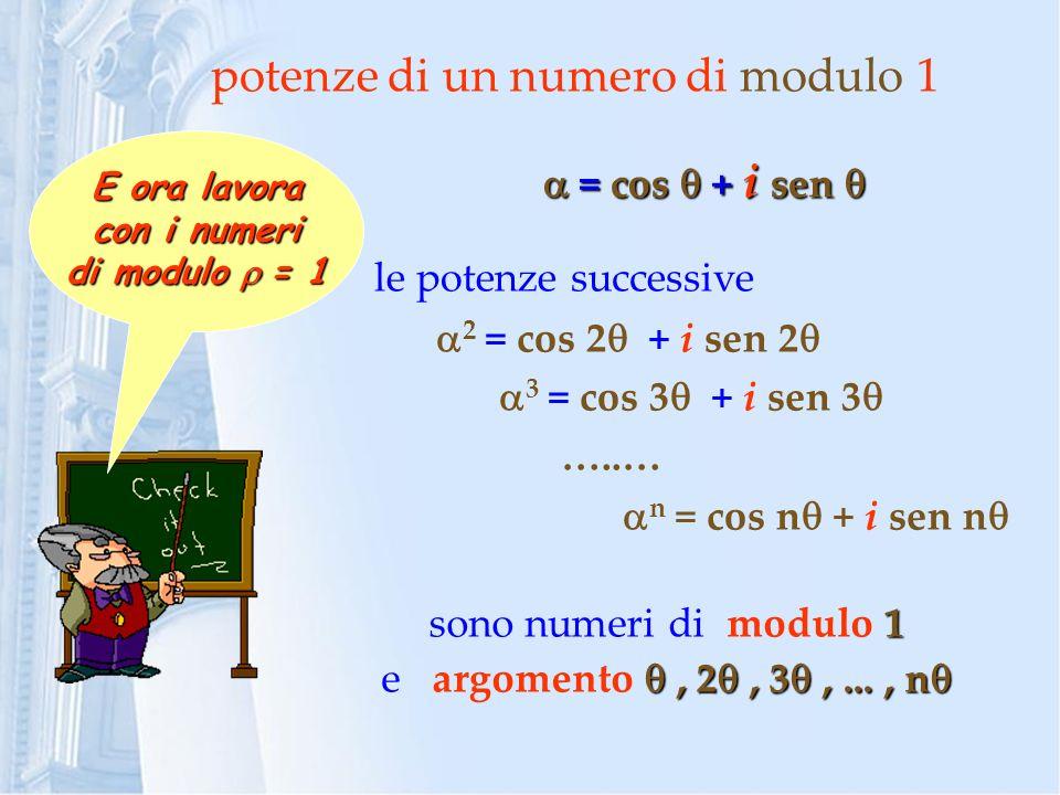 potenze di un numero di modulo 1