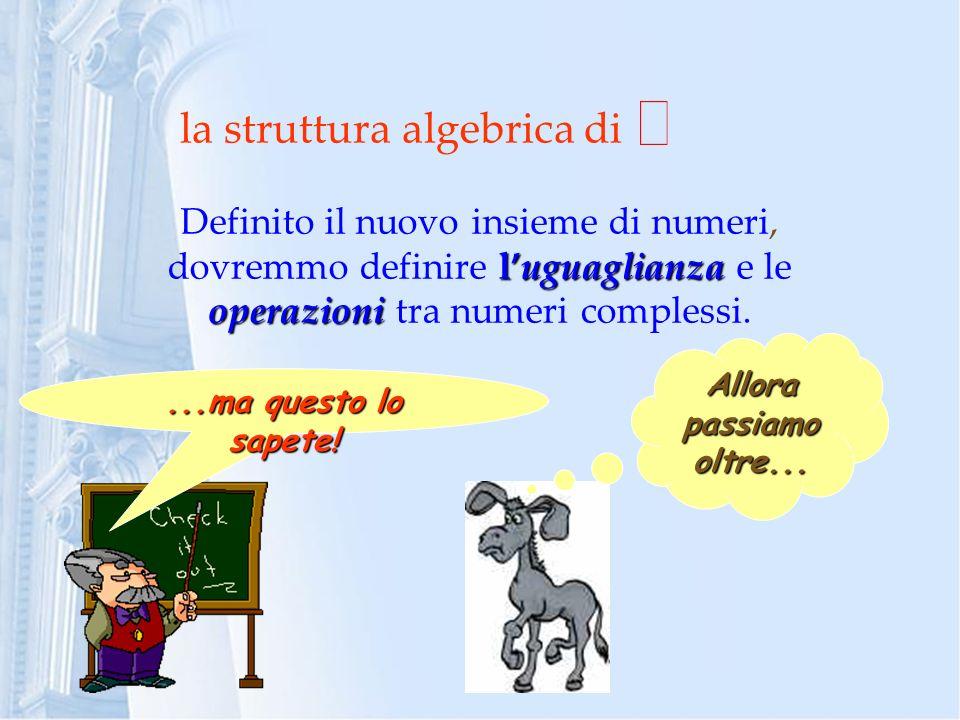 la struttura algebrica di