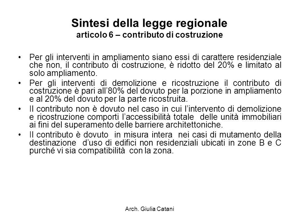 Sintesi della legge regionale articolo 6 – contributo di costruzione