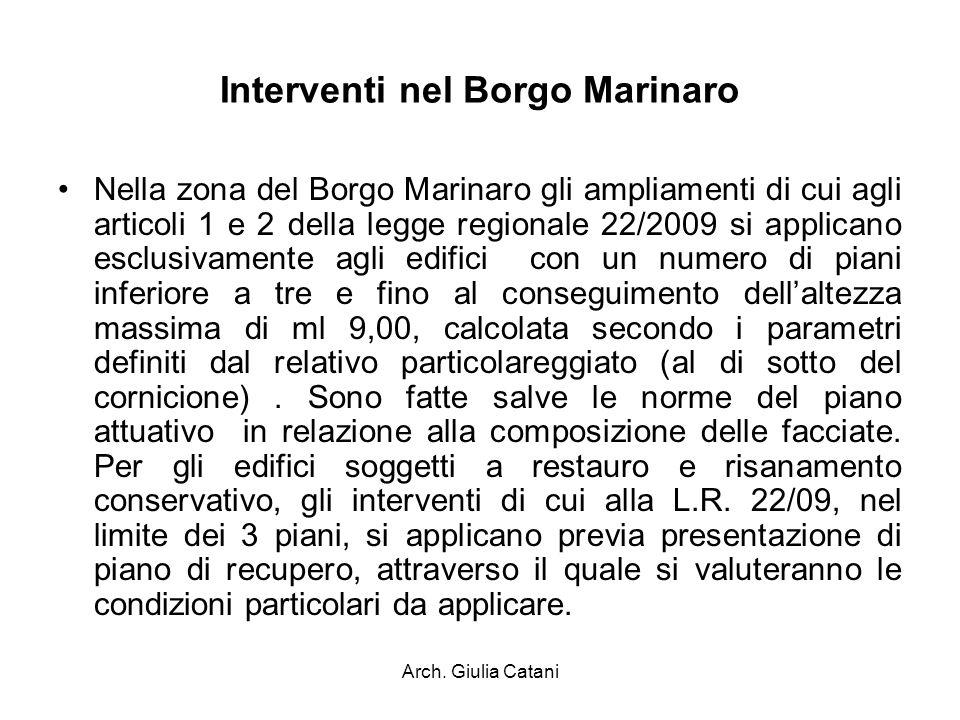 Interventi nel Borgo Marinaro