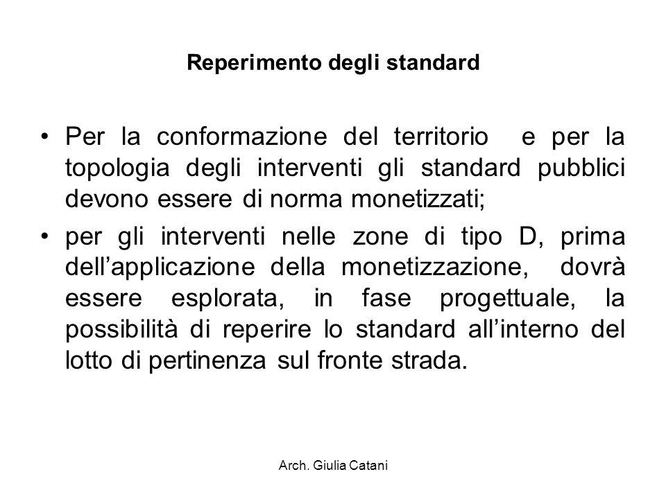 Reperimento degli standard