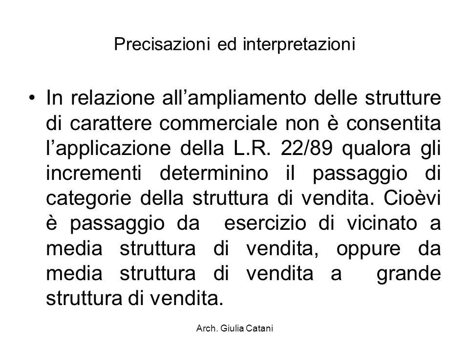 Precisazioni ed interpretazioni
