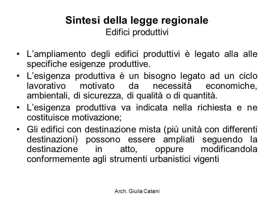 Sintesi della legge regionale Edifici produttivi