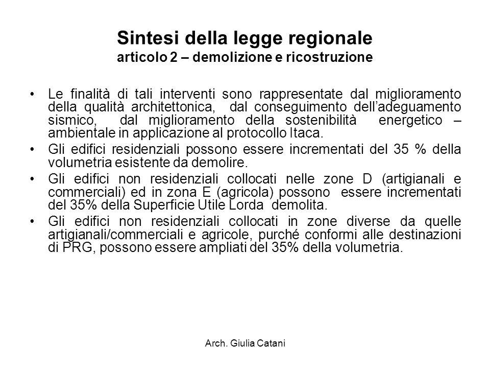 Sintesi della legge regionale articolo 2 – demolizione e ricostruzione
