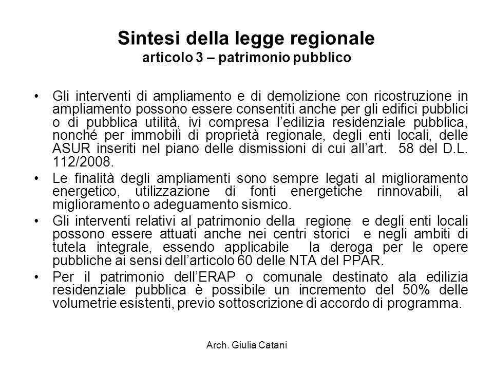 Sintesi della legge regionale articolo 3 – patrimonio pubblico