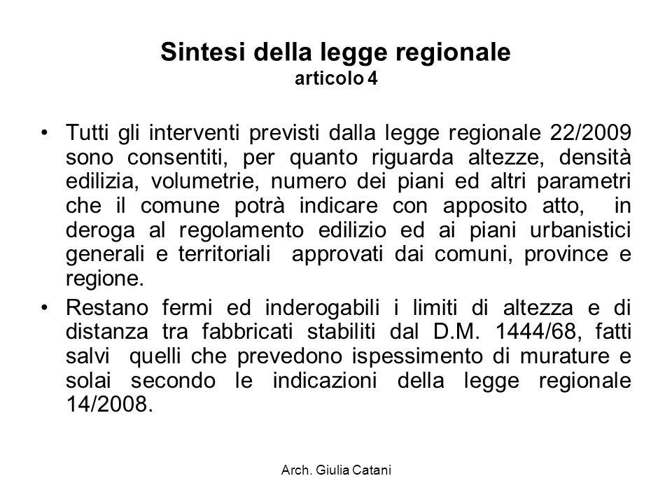 Sintesi della legge regionale articolo 4