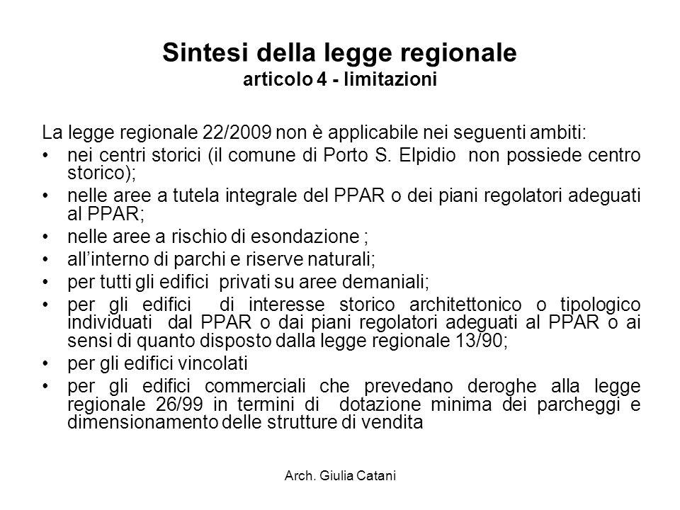 Sintesi della legge regionale articolo 4 - limitazioni