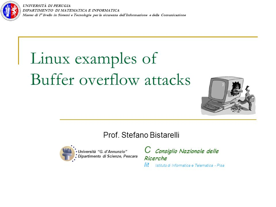 Linux examples of Buffer overflow attacks
