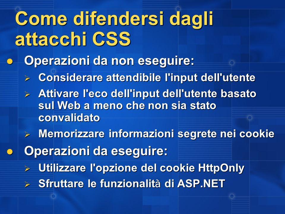 Come difendersi dagli attacchi CSS