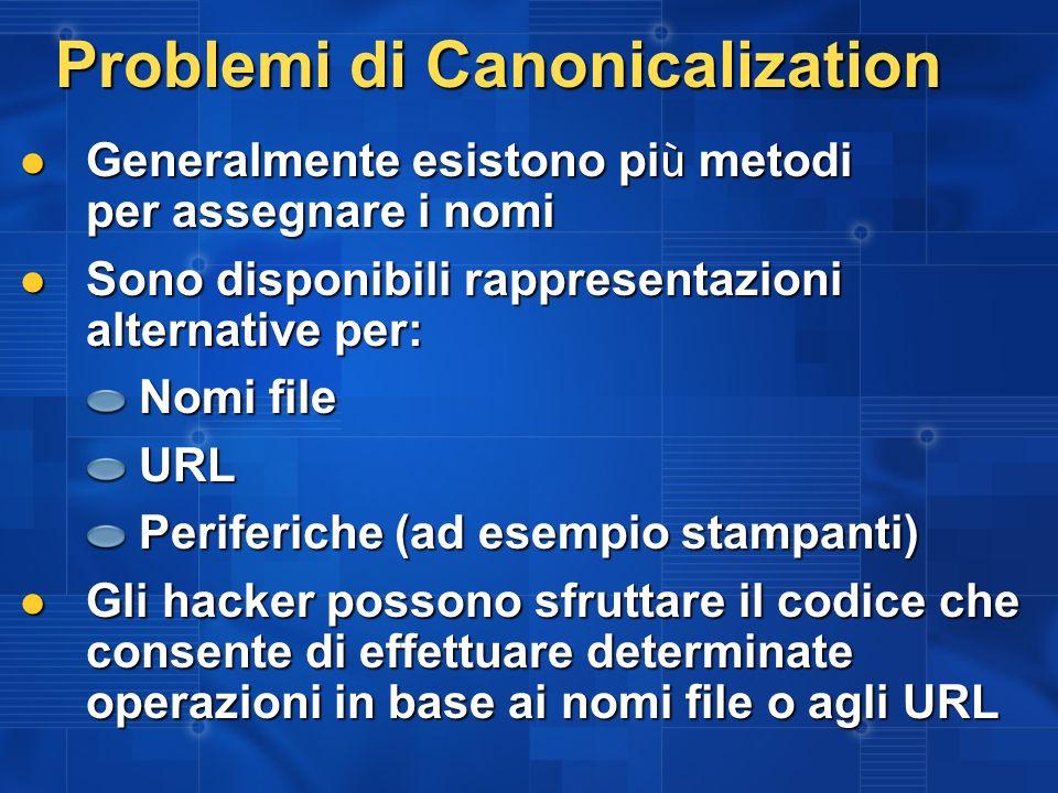Problemi di Canonicalization
