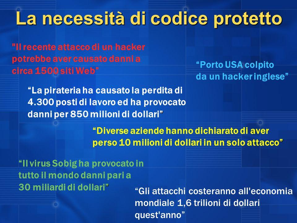 La necessità di codice protetto