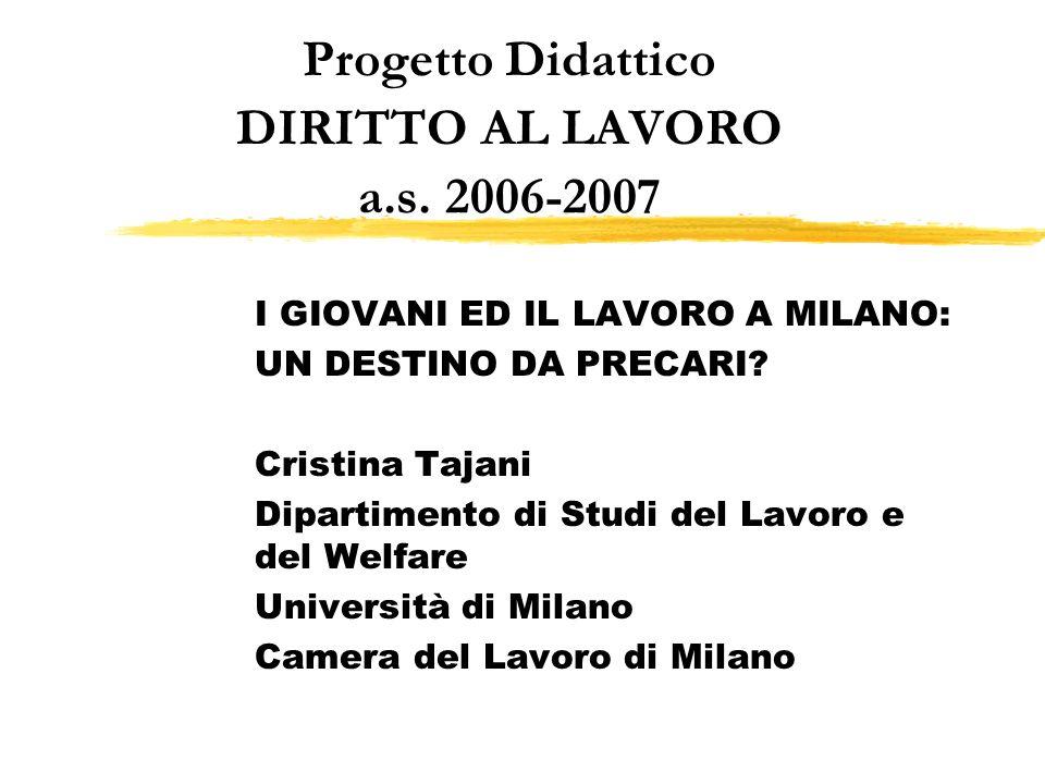 Progetto Didattico DIRITTO AL LAVORO a.s. 2006-2007
