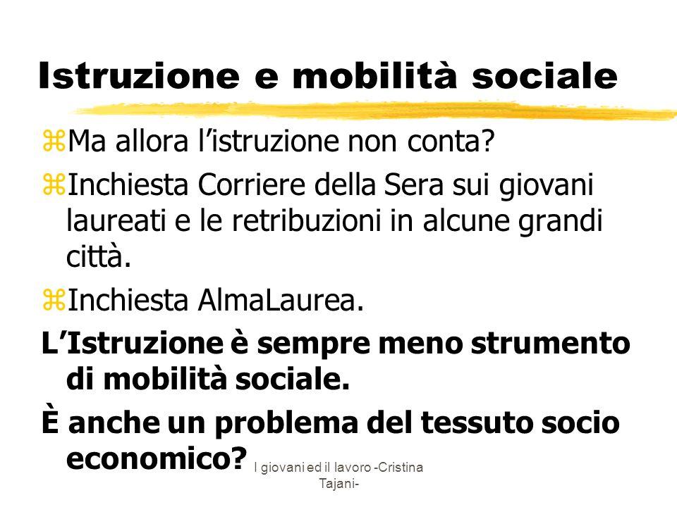 Istruzione e mobilità sociale