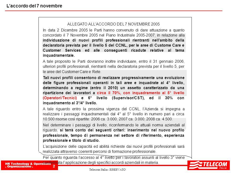 ALLEGATO ALL'ACCORDO DEL 7 NOVEMBRE 2005