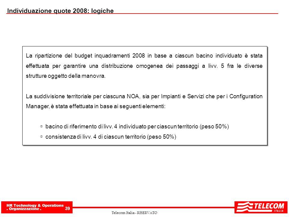 Individuazione quote 2008: logiche