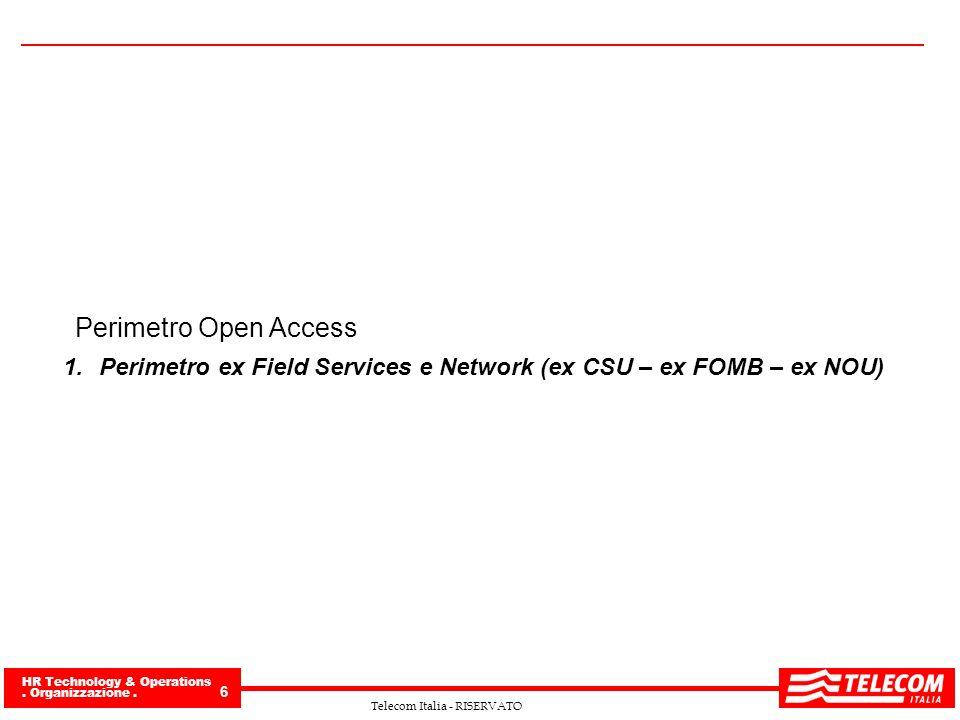 Perimetro Open Access Perimetro ex Field Services e Network (ex CSU – ex FOMB – ex NOU)