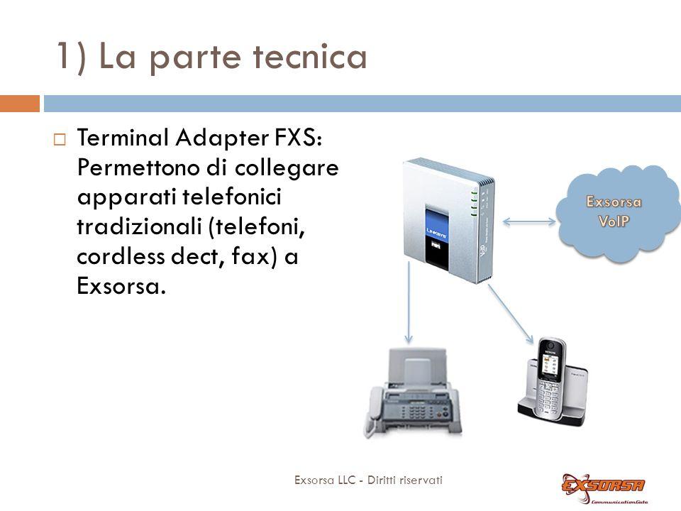 1) La parte tecnica Telefoni Linksys: SPA 921 SPA 922 (*) SPA 941