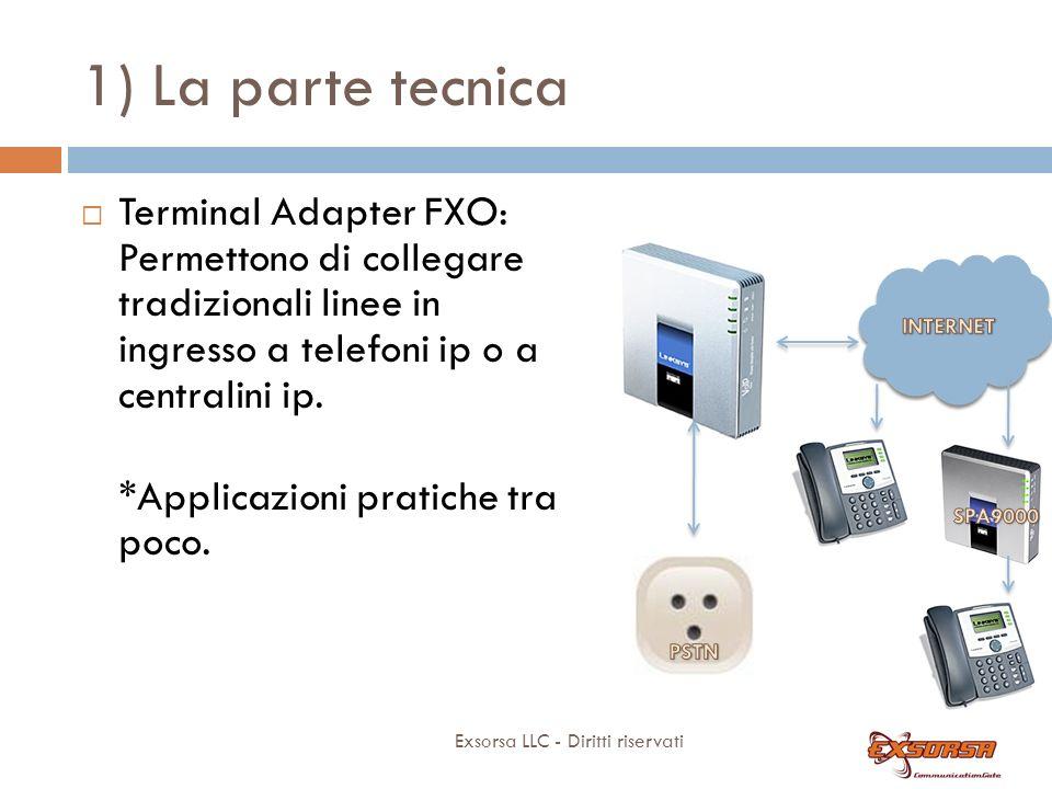 1) La parte tecnica Terminal Adapter FXS: PAP2-T (no T38 certificato)