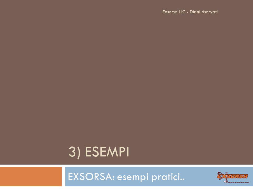 EXSORSA: Demo Frontend Rivenditore: Exsorsa LLC - Diritti riservati