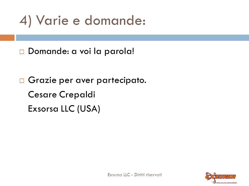 4) Varie e domande: ASSISTENZA . SEMPLICE!. -> assistenza.exsorsa.it.