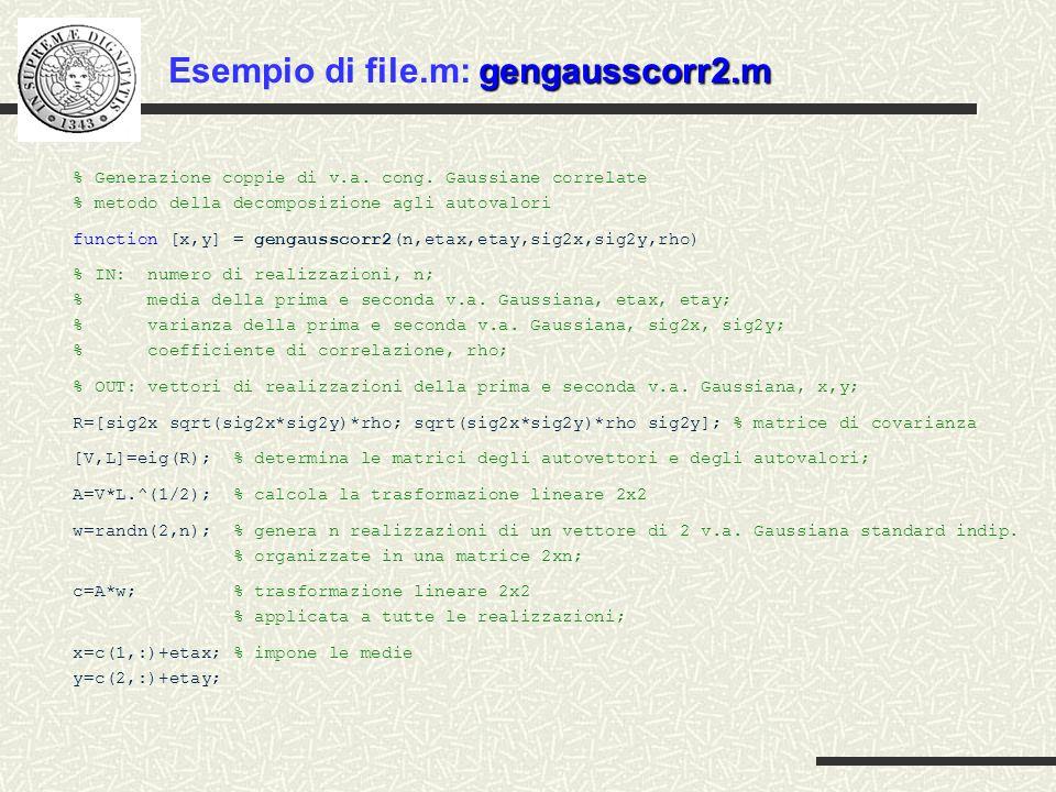 Esempio di file.m: gengausscorr2.m