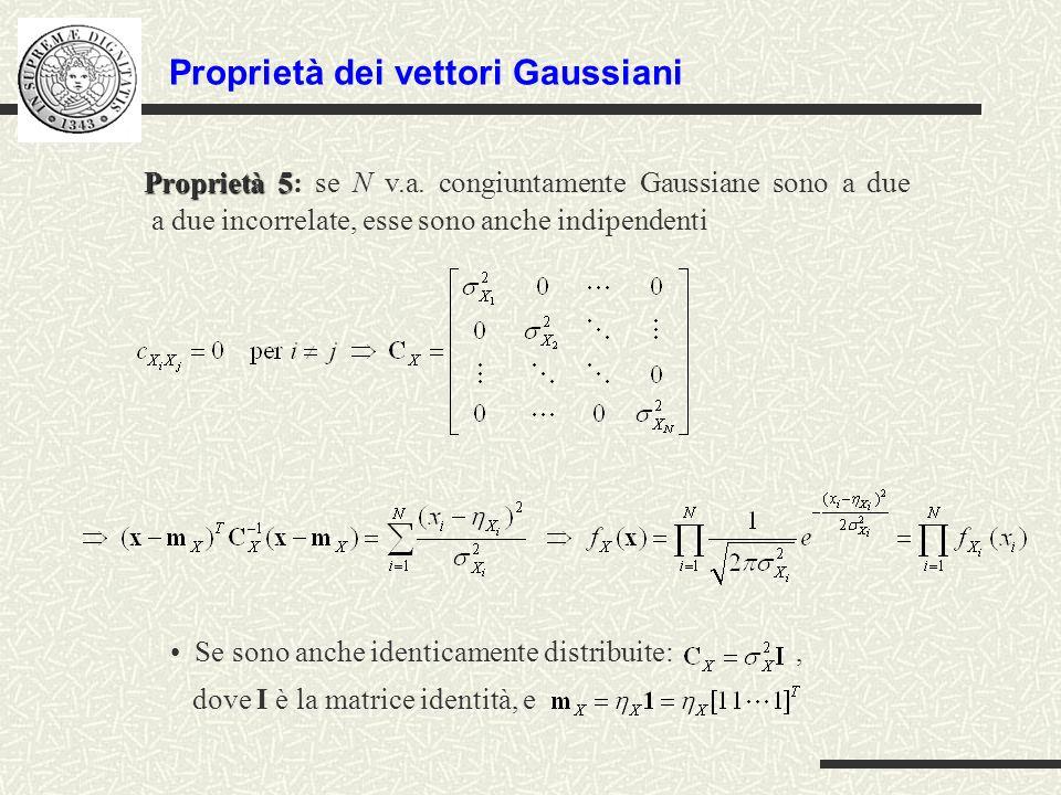 Proprietà dei vettori Gaussiani