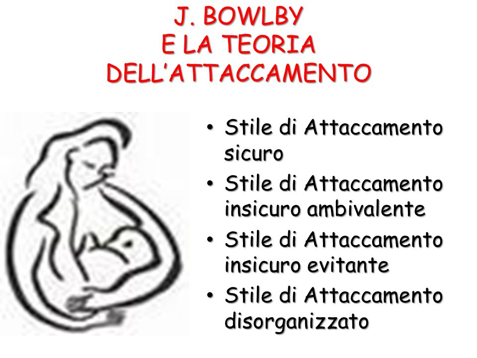 J. BOWLBY E LA TEORIA DELL'ATTACCAMENTO