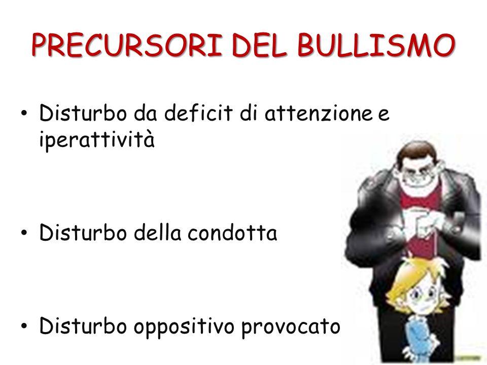 PRECURSORI DEL BULLISMO