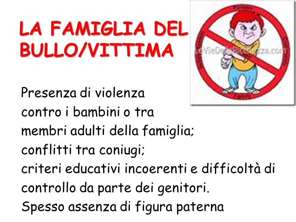 LA FAMIGLIA DEL BULLO/VITTIMA