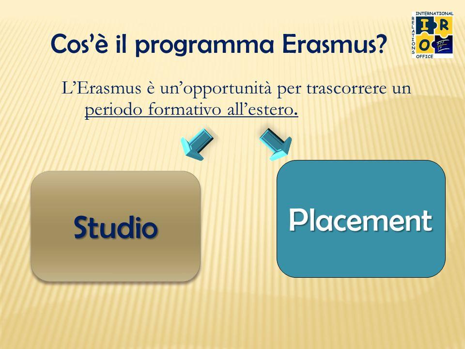 Placement Studio Cos'è il programma Erasmus