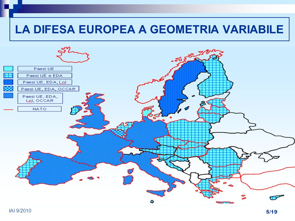 LA DIFESA EUROPEA A GEOMETRIA VARIABILE