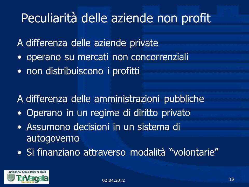 Peculiarità delle aziende non profit