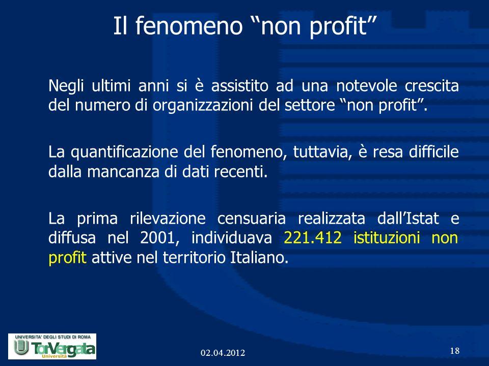 Il fenomeno non profit