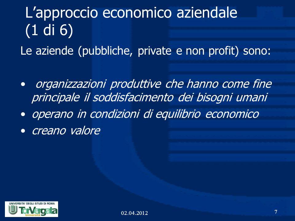 L'approccio economico aziendale (1 di 6)