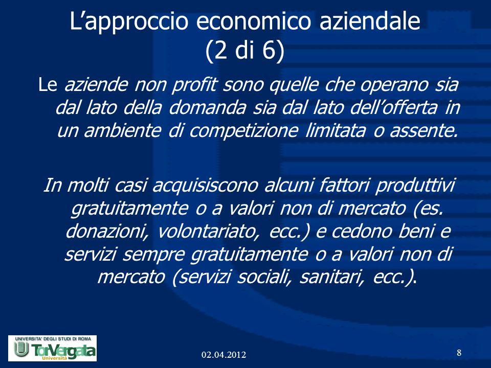 L'approccio economico aziendale (2 di 6)