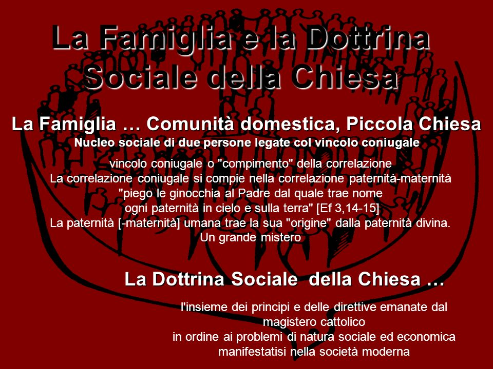 La Famiglia e la Dottrina Sociale della Chiesa