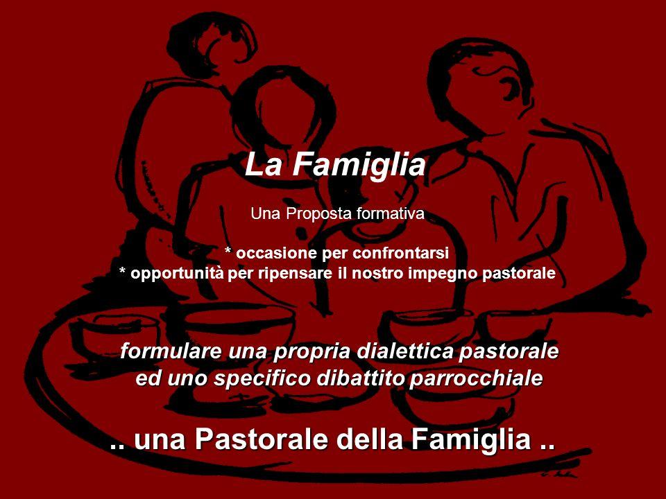 La Famiglia .. una Pastorale della Famiglia ..