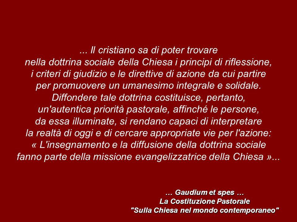 La Costituzione Pastorale Sulla Chiesa nel mondo contemporaneo