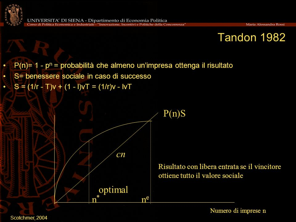 Tandon 1982 P(n)S cn optimal n* ne