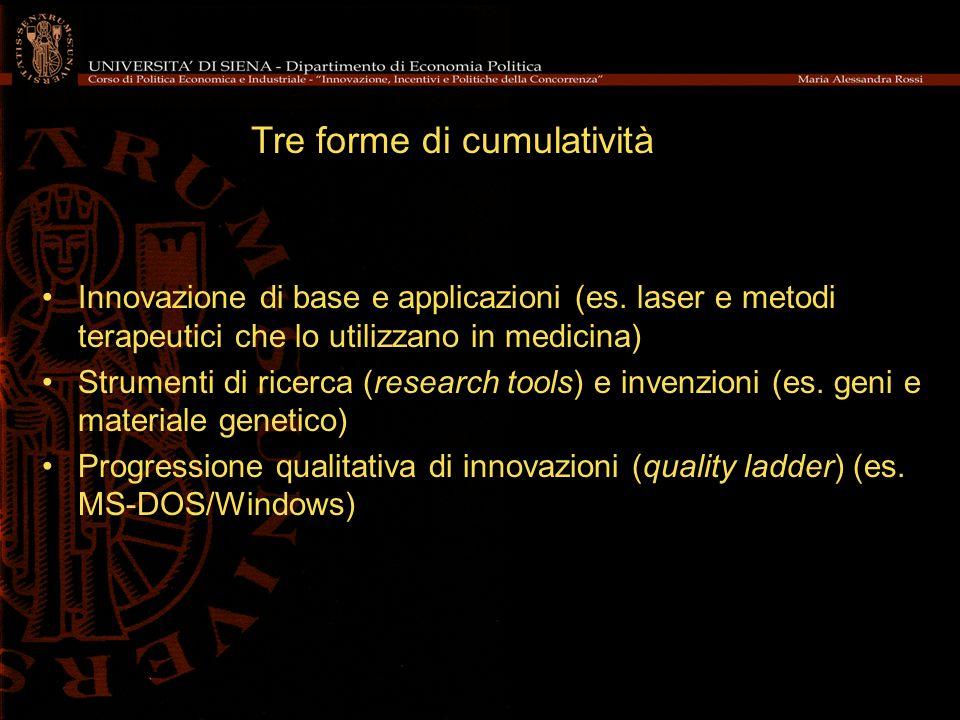 Tre forme di cumulatività