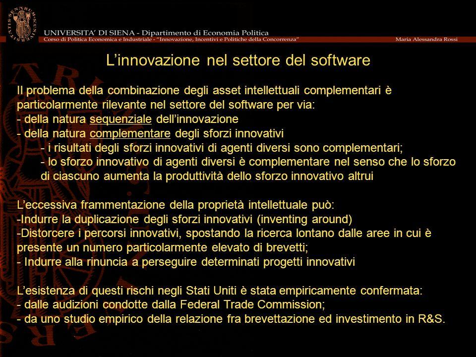 L'innovazione nel settore del software