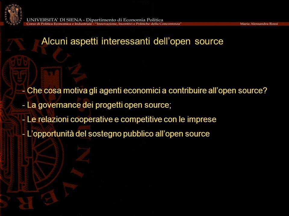Alcuni aspetti interessanti dell'open source
