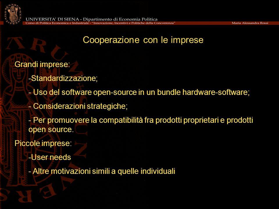Cooperazione con le imprese