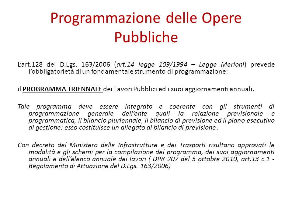 Programmazione delle Opere Pubbliche