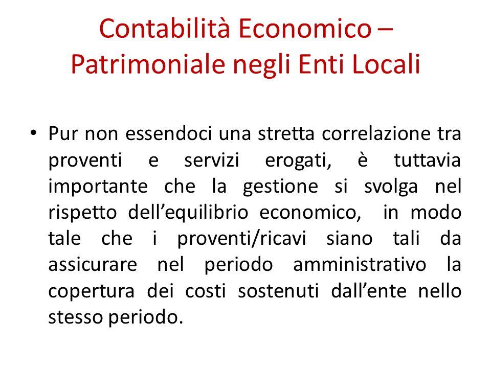 Contabilità Economico – Patrimoniale negli Enti Locali