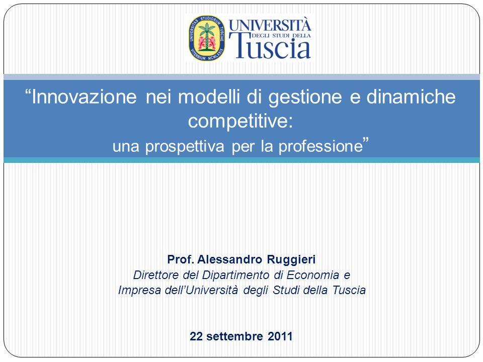 Innovazione nei modelli di gestione e dinamiche competitive: una prospettiva per la professione