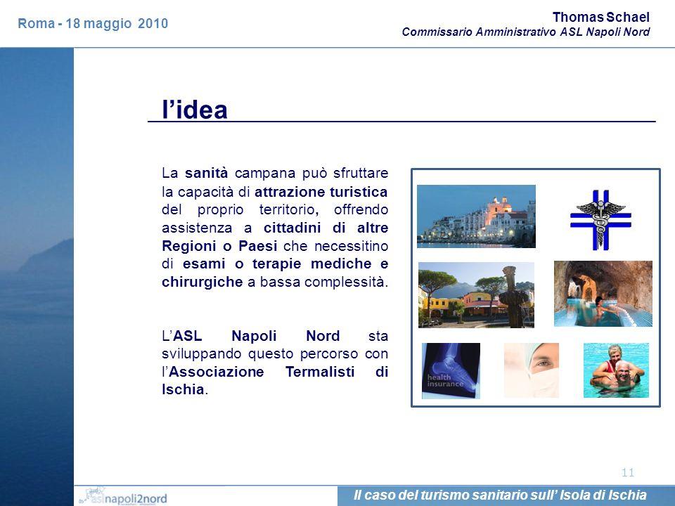Thomas Schael Commissario Amministrativo ASL Napoli Nord. Roma - 18 maggio 2010. l'idea.
